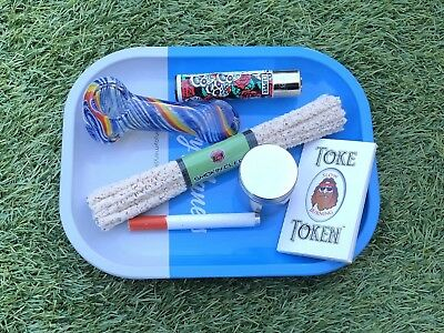 Smokers Gift Bundle-Tray, Papers, Glass Pipe, Grinder, One Hitter, Pipe Cleaners