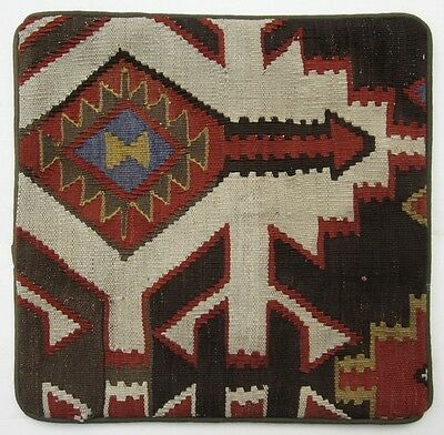 Handsome Handmade Sofa Pillow Fashioned from a Semi-Antique Kilim Rug