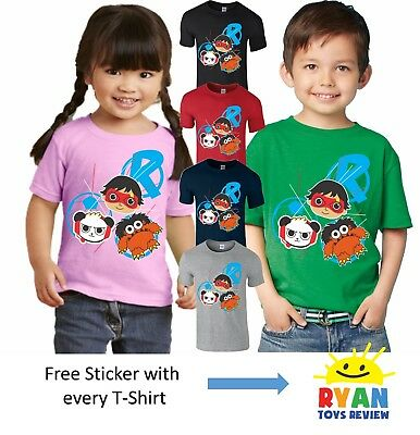 Ryan Toys Review T Shirt Birthday Gift Girls Boys Kids Christmas Top Sisters