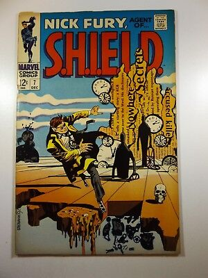 """Nick Fury, Agent of Shield #7 """"Hours of Madness, Day o Death!"""" Fine/VF Condition"""