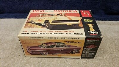 Original Issue Vintage AMT 1956 Ford Victoria 3 in 1 Customizing Model Kit