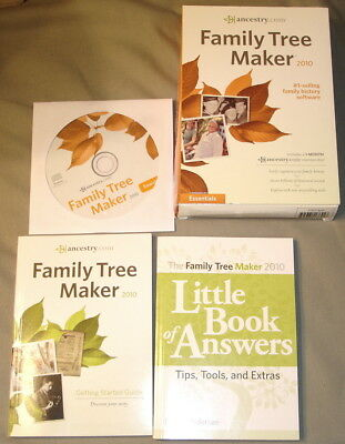 Family Tree Maker 2010 Software for Windows Used