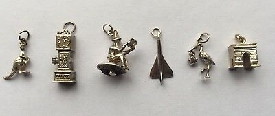 Job Lot Of 6 Vintage Sterling Silver 925 Charms