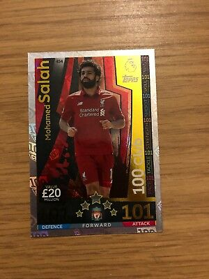 Match Attax 2018/19 Mohamed Salah 100 Hundred 101 Club No 454 Mint