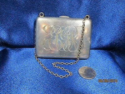 Antique Sterling Silver Victorian Coin Purse 113 Grams