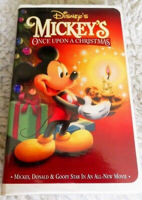 disney mickeys once upon a christmas vhs clam shell - Mickeys Once Upon A Christmas Vhs