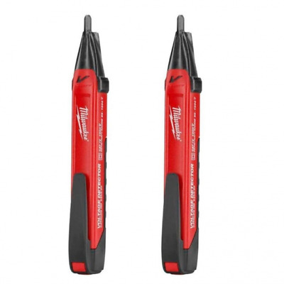 2 PACK Milwaukee Voltage Detector Tester with LED Light Pen Electrical 2202-20P
