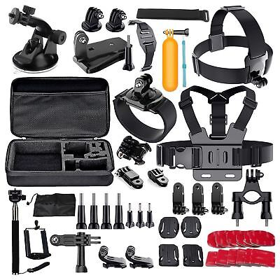 60 Pcs Accessories Set Kit For GoPro Hero 2 3 3+ 4 5 SJCAM Head Chest Strap P LL