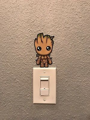 Marvel Guardians Of The Galaxy Baby Groot Switchplate Decal