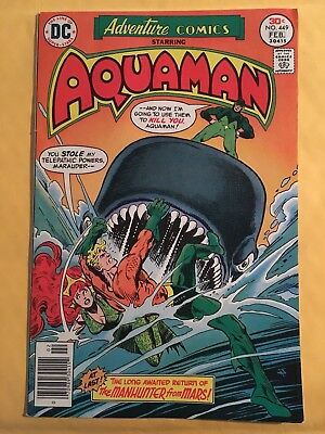 Adventure Comics 449 Aquaman (DC 1977) Martian Manhunter Story