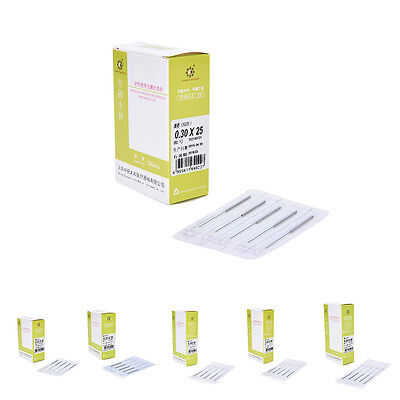 100pcs/box Disposable Sterile Acupuncture Needles one Pipe Single with oneEO