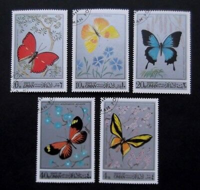 Oman-1972-Butterfly-Set of 5-Used