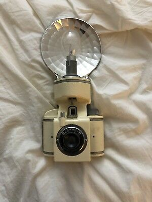 Vintage Whitehouse  Beacon II Camera With Beacon Flash And Bulbs