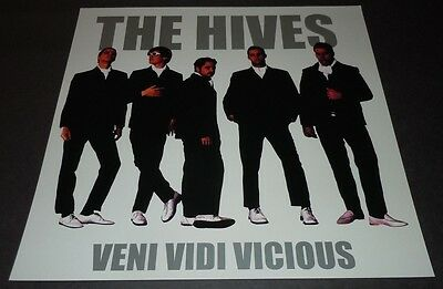 THE HIVES~Veni Vidi Vicious~Promo Poster Flat~12x12 Double Sided~NM Cond~2000