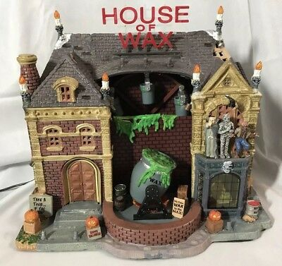Lemax Spooky Town ~ House of Wax - Lights/sound/animated - IN BOX(B)