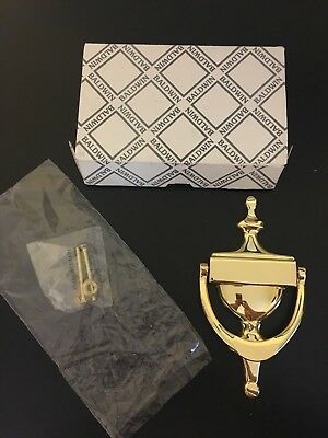 NIB VIntage BALDWIN Polished Brass Door Knocker 0110-030
