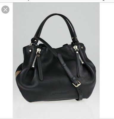 5abeeaafcf NWT Authentic Burberry Small Maidstone Black Leather Retail Price $995