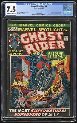 Marvel Spotlight #5 (Marvel - 8/72) CGC 7.5 VF- 1st app GHOST RIDER