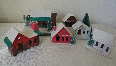 Little Paper Houses for Christmas..made in Japan