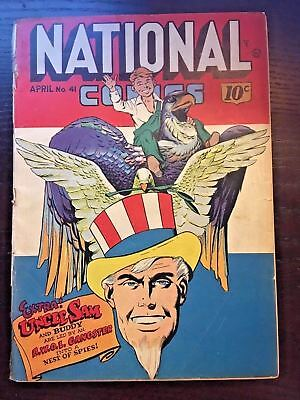 National Comics (1940) #41 Golden Age Comic Classic Uncle Sam