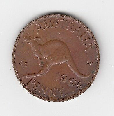 1964P Australia Elizii Penny - Very Nice Collectable Vintage Coin