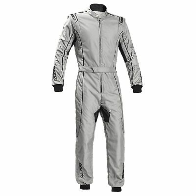 Sparco Groove KS-3 FIA Kart Suit - Silver / Black - Child / Youth Size 120cm