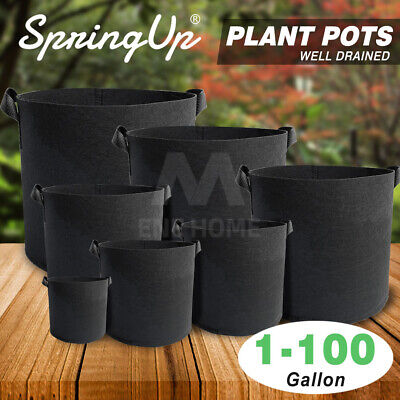 Pack of 1/3/5/10 Fabric Grow Pots Breathable Planter 1/2/3/5/7/10 Gallon Bags