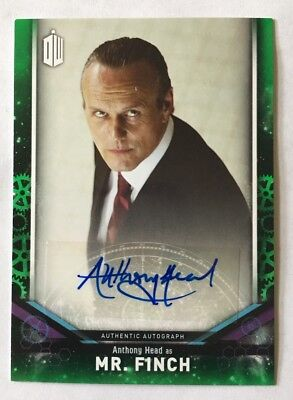 2018 Topps Doctor Who Signature Series Anthony Head As Mr Finch Green Auto 49/50