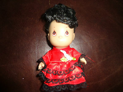 "5"" Precious Moments Hi Babies International Doll Spanish Girl Hispanic Baby"