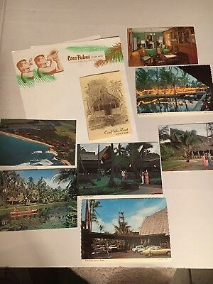 Hawaii HI Kauai COCO PALMS Resort 7 Vintage Postcards & Stationery