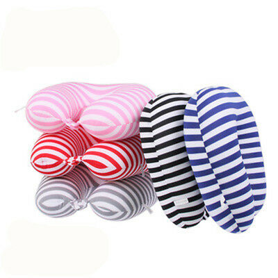 Striped U-Shaped Nanoparticle Pillow Travel Drive Pillow For Protecting Neck Hot