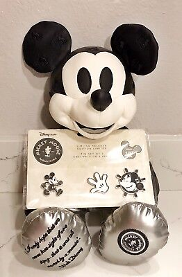 Disney Store Mickey Mouse Memories January Plush & Pins Limited Steamboat Willie