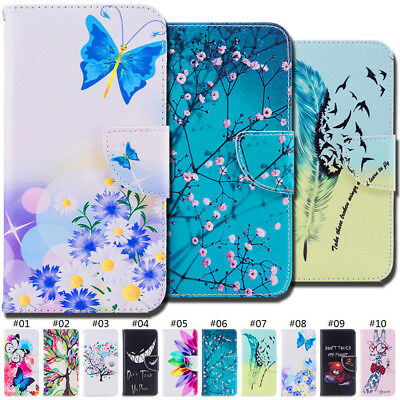 Painted Wallet Holder Card Slot PU Leather Flip Stand Case Cover For LG K8 (2018