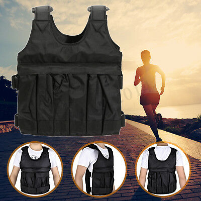 Adjustable Empty 110LBS/50KG Weighted Vest Exercise Jacket Waistcoat For Fitness