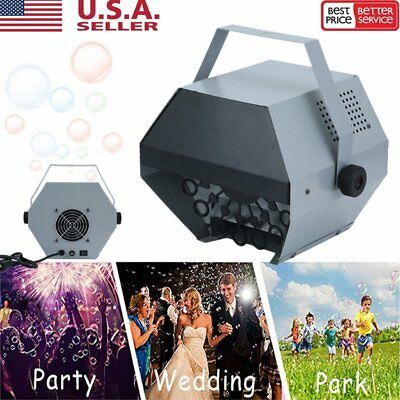 25W Automatic Bubble Machine Maker High Output Auto Blower DJ Party Stage 16Wand