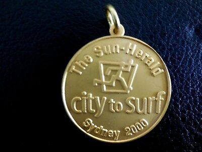 City To Surf Medal - Sydney 2000 - The Sun - Herald