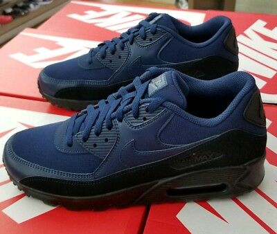 promo code 56134 7722f Nike Air Max 90 Essential Men s Black   Midnight Navy Aj1285 007