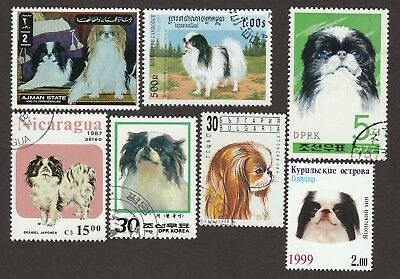 JAPANESE CHIN ** Int'l Dog Stamp Collection **Unique Gift Idea**