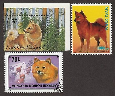 FINNISH SPITZ ** Int'l Dog Stamp Collection ** Great Gift Idea**