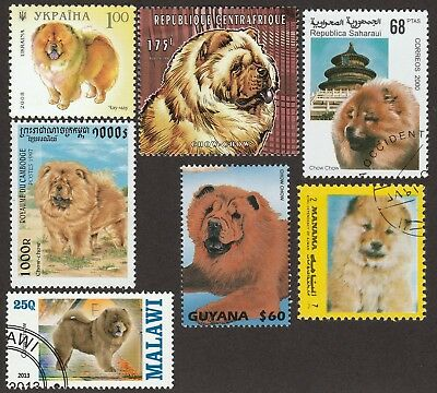 CHOW CHOW ** Int'l Dog Postage Stamp Collection **Great Gift Idea**
