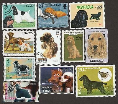 AMERICAN COCKER SPANIEL ** Int'l Dog Stamp Collection ** Great Gift Idea **