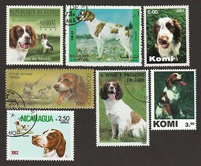 BRITTANY ** Int'l Dog Stamp Collection ** Unique Spaniel Gift **