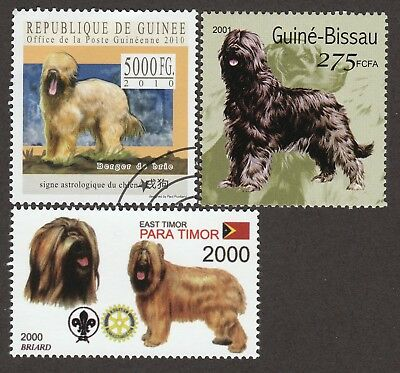 BRIARD *Int'l Dog Postage Stamp Collection* Unique Gift*