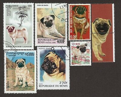 PUG *Int'l Dog Postage Stamp Collection* Unique Gift*