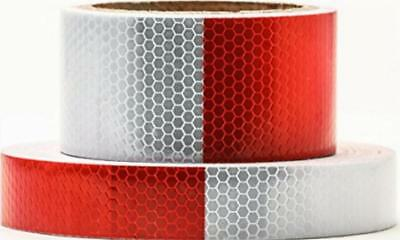 Heavy Duty Reflector Tape Waterproof Car Trailer Safety Warning Lights White Red