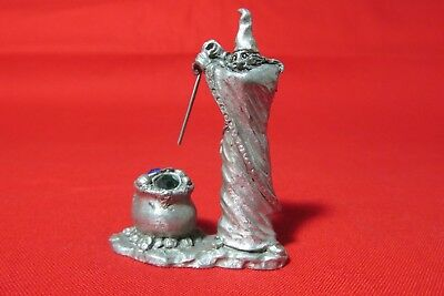 Pewter Fantasy Wizard With Crystals  Figurine