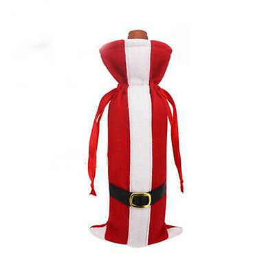 Great Red Wine Bottle Cover Bags Hug Santa Claus Snowman Dinner Table Decoration