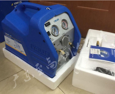 New Air Conditioning Refrigerant Recovery Unit Recycling Machine VRR12L 220V