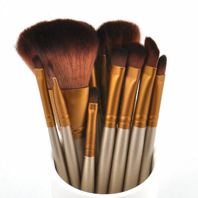 12pcs Kabuki Professional Make up Brushes Set Makeup Foundation Blusher Powder