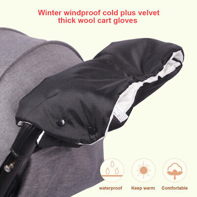 Baby Stroller Trolley Handle Cover Glove Hand Keep Warm Windproof For Winter